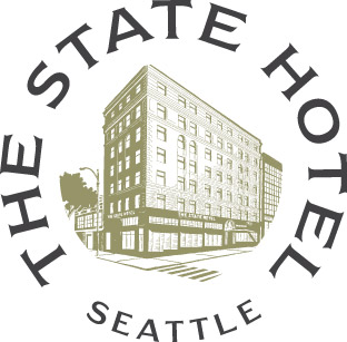 The State Hotel round logo