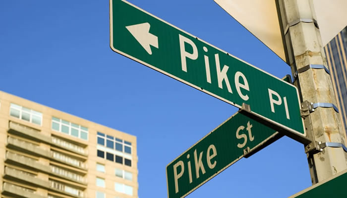 the corner of Pike and Pine